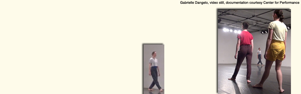 Gabrielle D'Angelo, video still, documentation courtesy Center for Performance Research