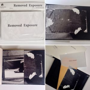 """Removed Exposure"", a limited-edition book based on the 2004 performance of the same name by Karen Bernard"
